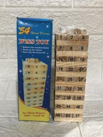 Đồ chơi rút gỗ 54 thanh loại lớn (hộp màu xanh )