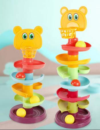 Đồ chơi 4 tầng cho bánh xoay hình thú dể thương
