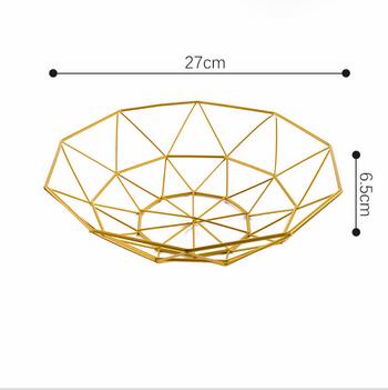 Rổ đựng trái cây màu vàng loại nhỏ 10 góc 27x6.5cm