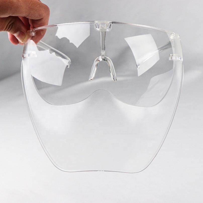 Kính face shield bảo hộ chống giọt bắn. bụi phần dưới mờ