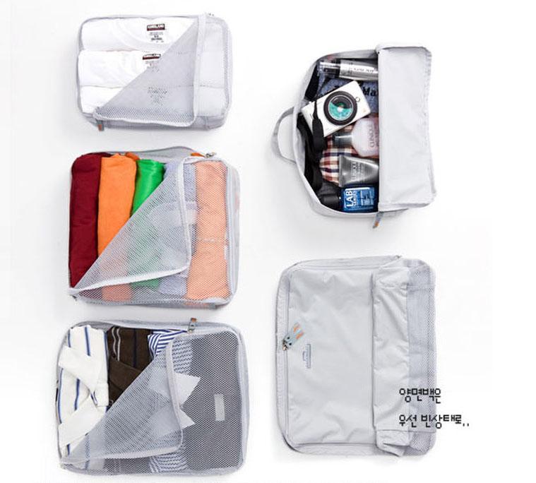 Bộ 5 túi đựng mỹ phẩm hàn quốc