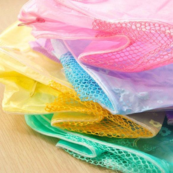 Túi đựng mỹ phẫm trong suốt nhiều màu